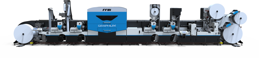 Graphium hybrid configuration demonstrated at LabelExpo - Digital finishing embellishment inkjet - Graphium