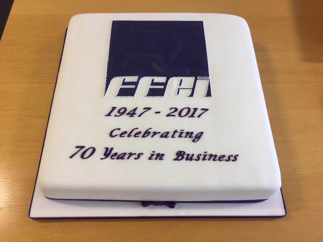 FFEI 70th anniversary cake